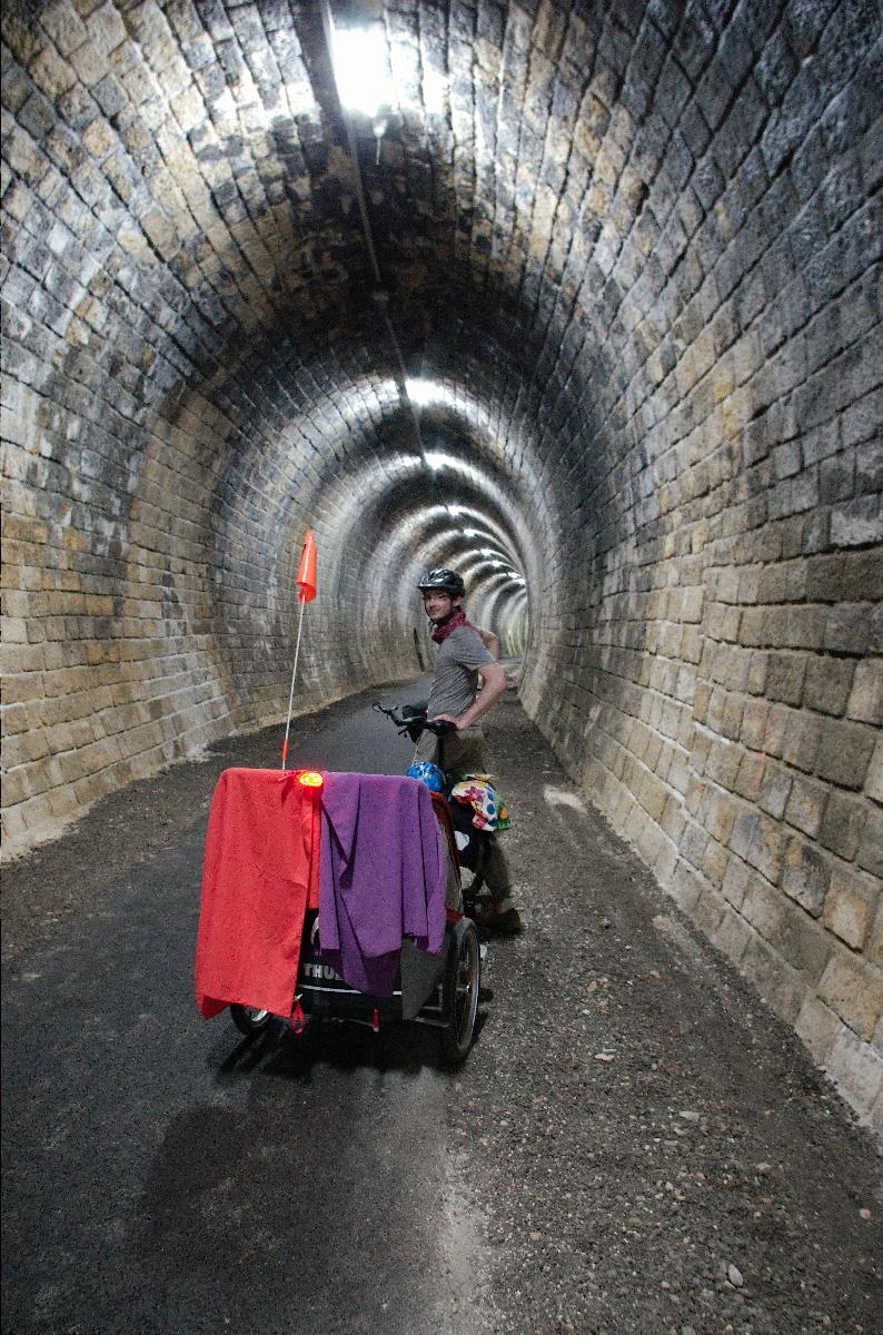 Un tunnel cyclable original !