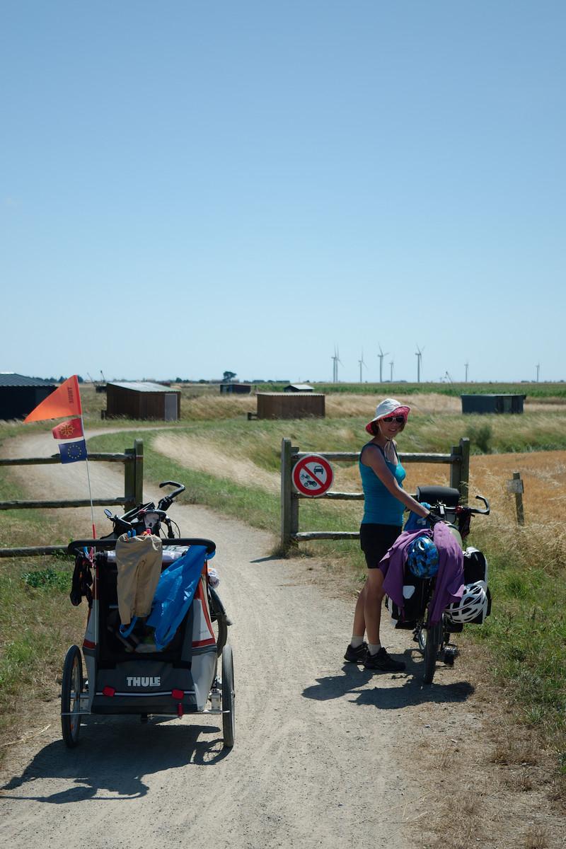 Chemins cyclables à l'abri du polder