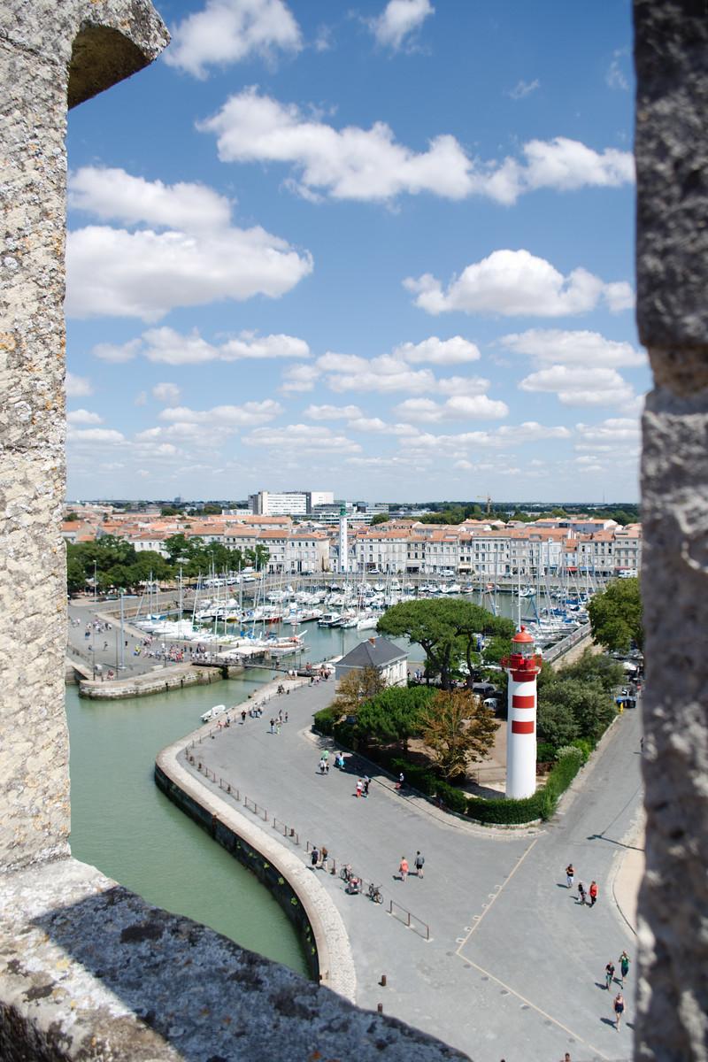 Vue sur La Rochelle depuis la tour Saint-Nicolas