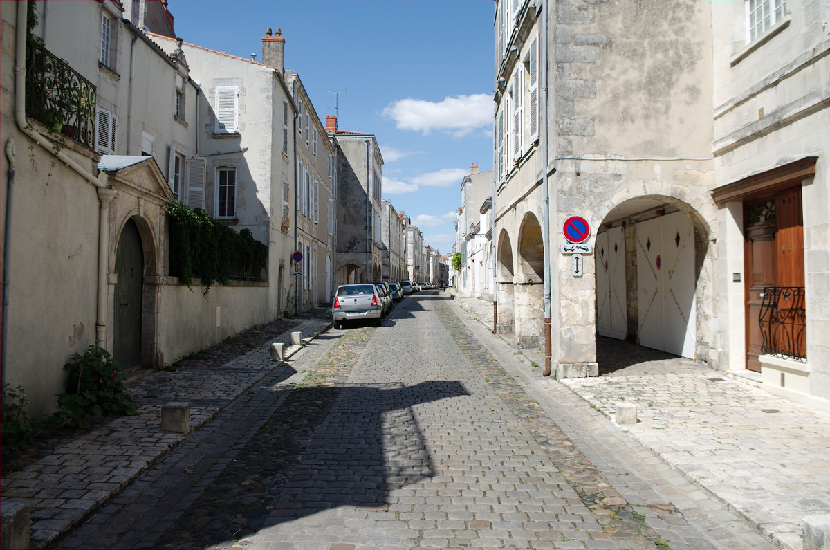 La rue de l'Escale à La Rochelle