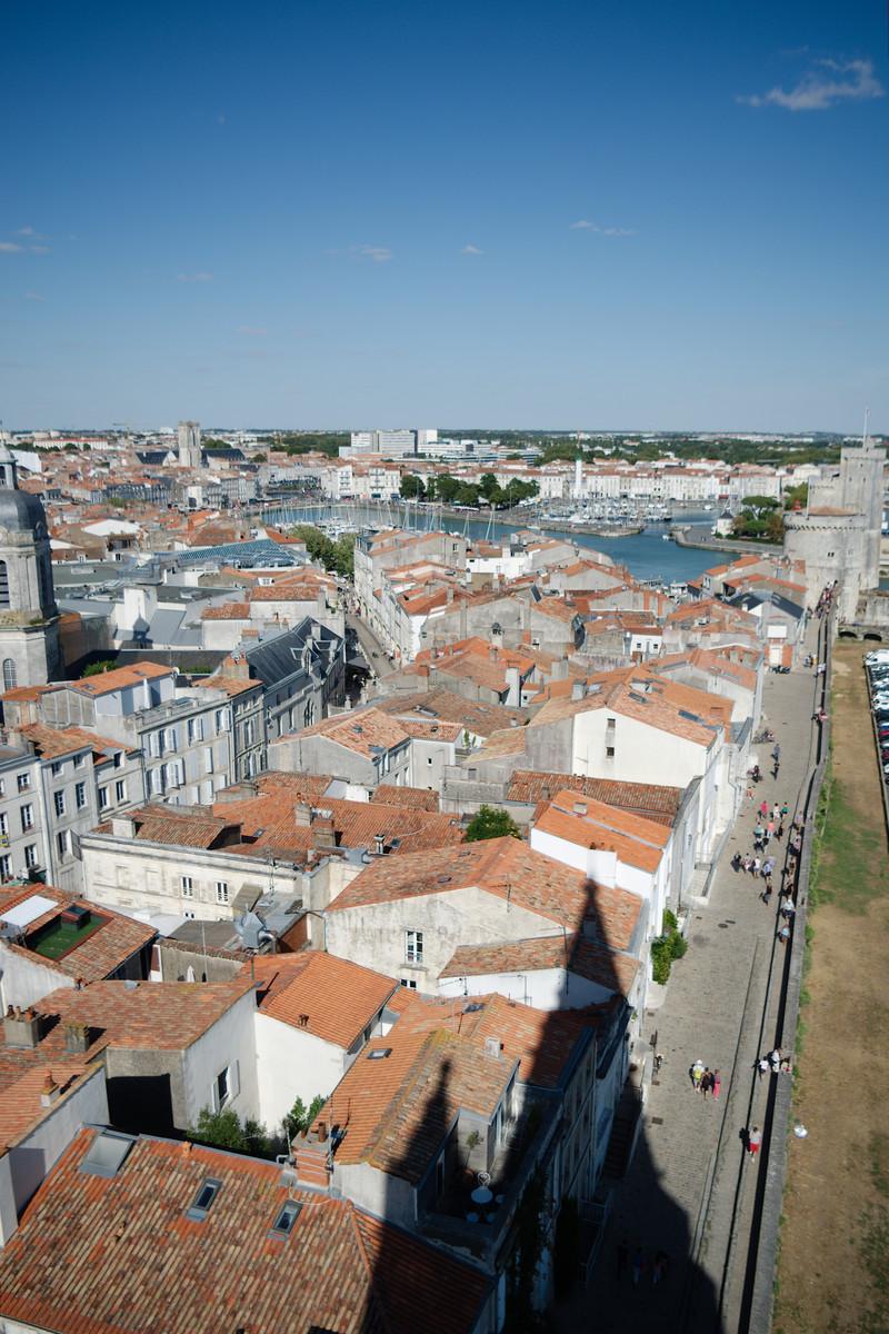 La Rochelle vue depuis la tour de la Lanterne