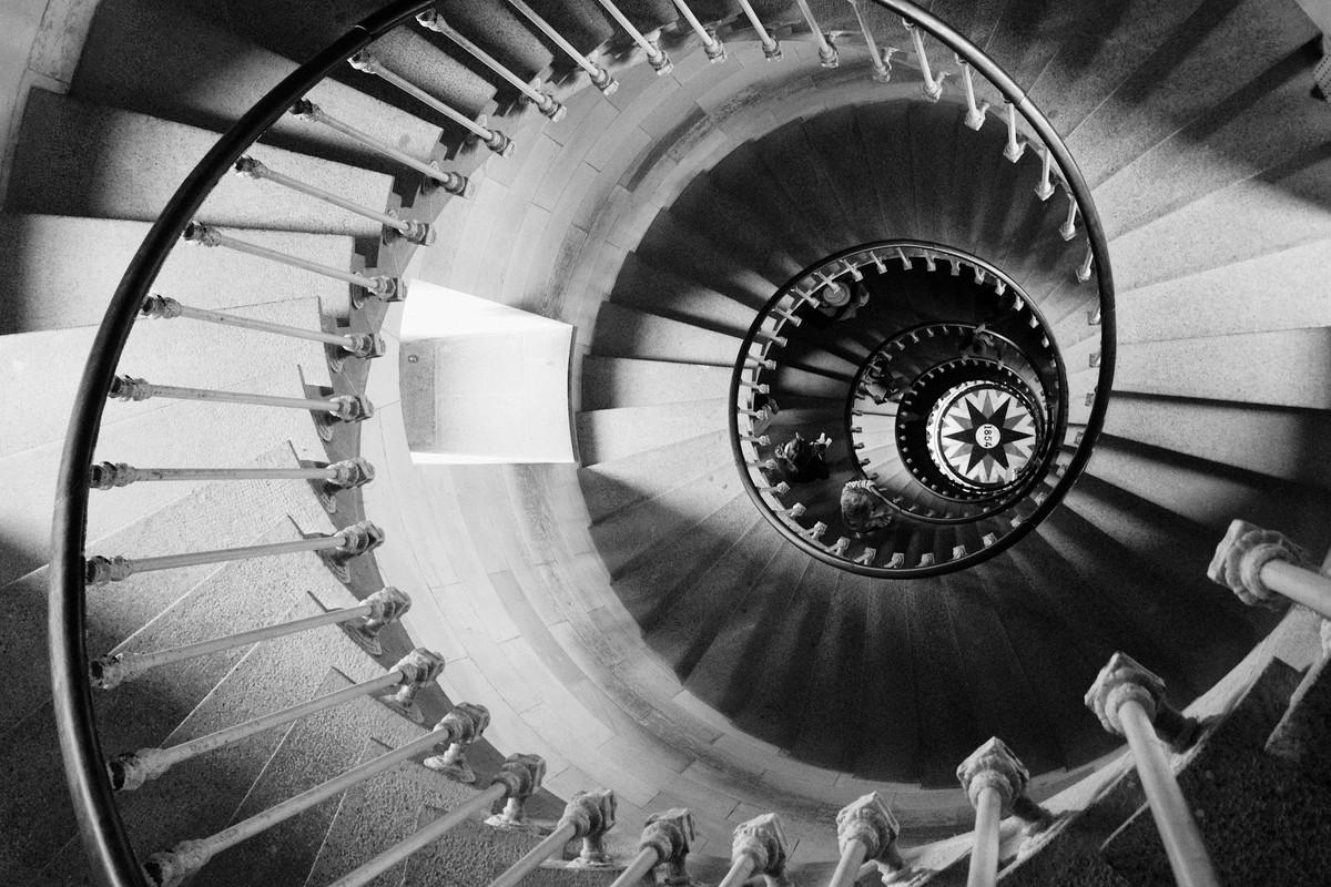 L'escalier du phare des baleines