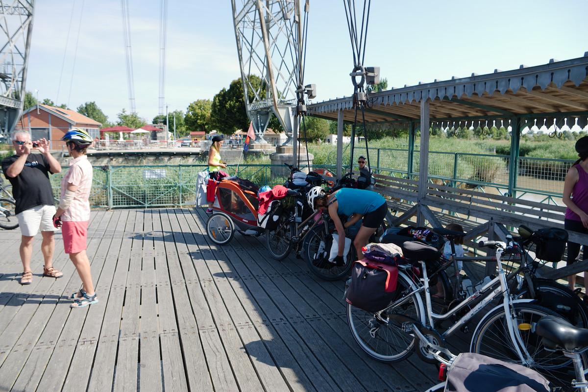 Le pont transbordeur, très cycliste !