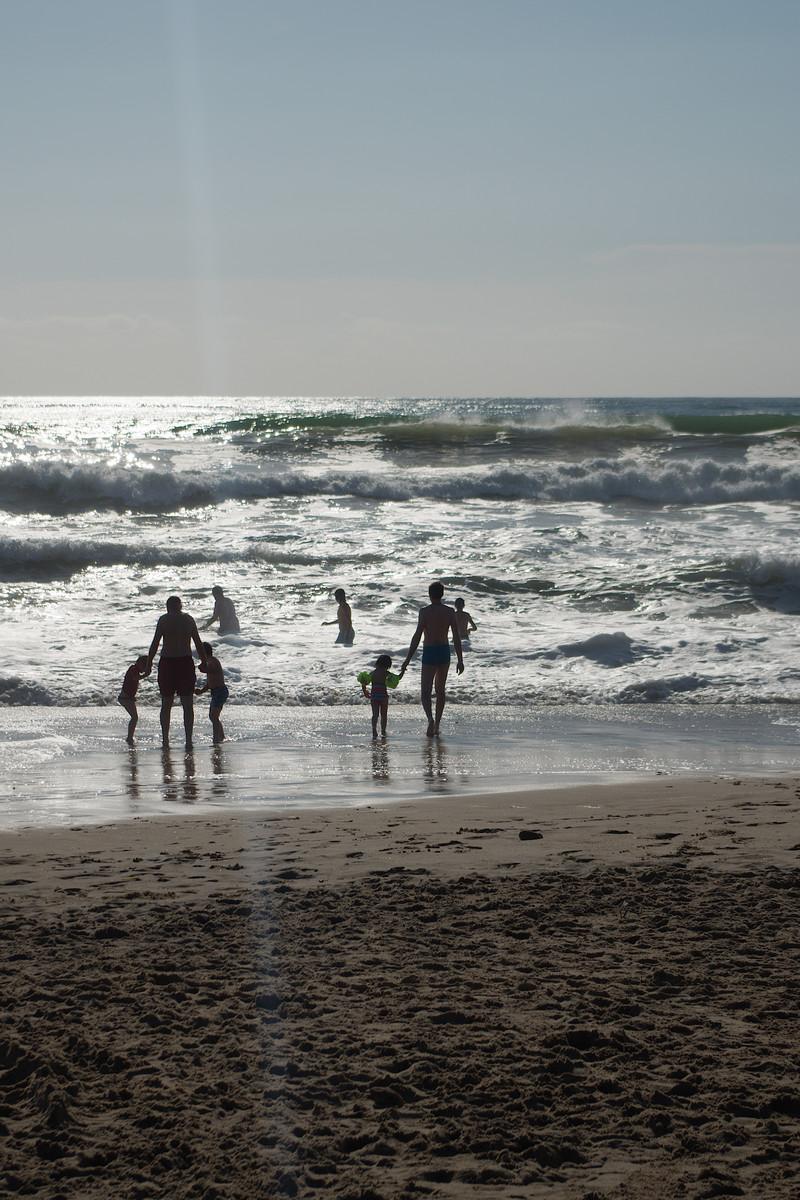 La plage de Montalivet et ses rouleaux