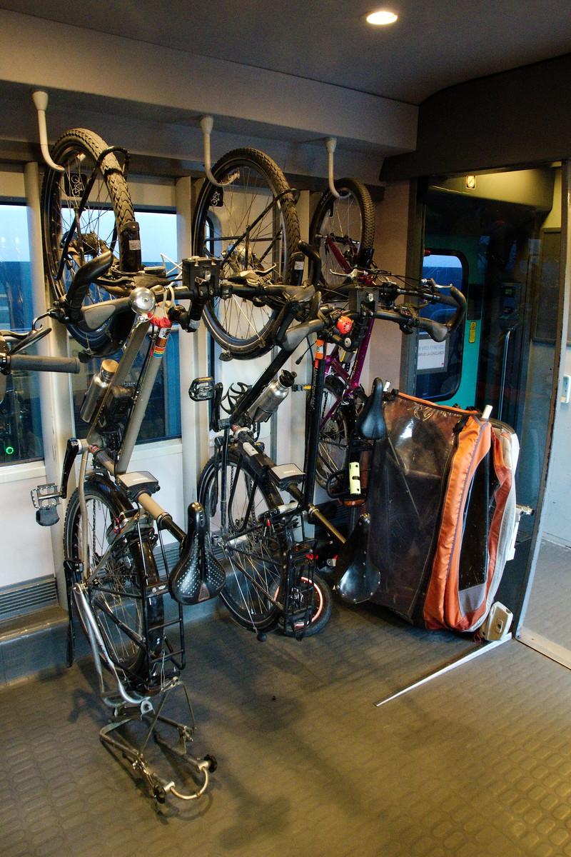 Un grand espace vélo dans notre TER